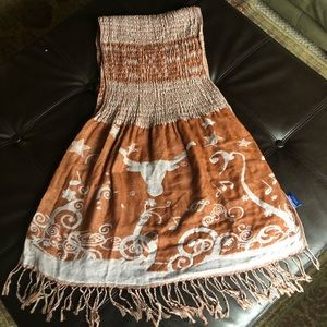 Accessories - Texas Longhorns | Crinkle Shawl Scarf